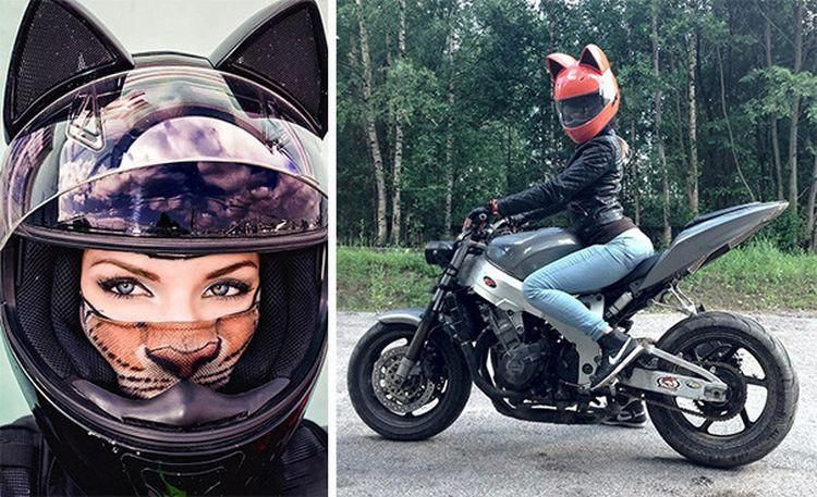 Девушки на мотоциклах: выбираем стильный неко шлем с ушками