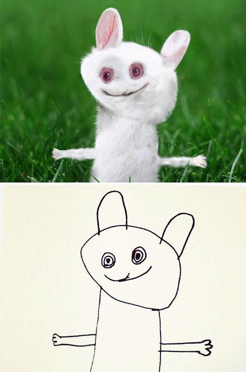 Шестилетний мальчик нарисовал смешных существ, а отец их оживил
