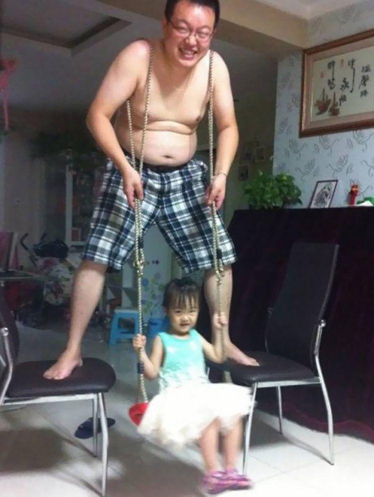 Фото доказательства того, что детям с папами веселее