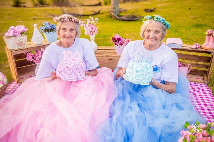 Эти позитивные старушки-близняшки вдохновят каждого. Им 100 лет!